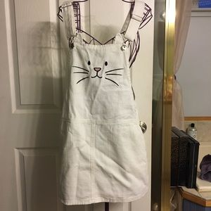 Cat overall dress